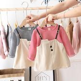 女童洋裝 女童秋裝新款洋裝兒童洋氣洋裝假兩件2019中小童秋季裙子潮 尾牙交換禮物