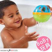 寶寶洗澡球花灑戲水玩具 益智球 搖鈴