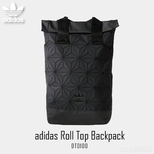 【現貨折卷後2699】CLASSICK adidas 黑色 黑標 Roll Top Backpack 三宅一生 電腦包 後背包 DH0100