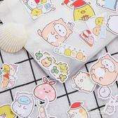 角落生物貼紙-可愛角落生物手賬貼紙卡通墻角生物裝飾貼手工日記自制貼畫100枚 多麗絲