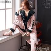 珊瑚絨睡袍女冬長款加厚加絨秋冬季甜美法蘭絨睡衣冬季女士家居服YXS 韓小姐的衣櫥