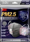3M™PM2.5空污微粒防護口罩(2片/包)—活性碳帶閥型 9041V【艾保康】