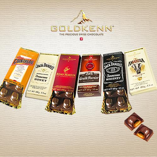 GOLDKENN瑞士金磚 酒心巧克力