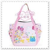♥小花花日本精品♥ Hello Kitty 帆布托特包粉色站姿繽紛小圖手提包肩背包外出包外出袋 42158004