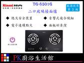 ❤PK廚浴生活館 ❤高雄莊頭北瓦斯爐-TG-8501G 二口節能玻璃檯面爐