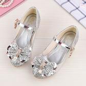 女童高跟公主鞋 春夏季新款蝴蝶結兒童舞蹈水晶鞋 LR1795【VIKI菈菈】