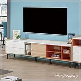 【水晶晶家具/傢俱首選】ZX1377-2羅德6尺單門黑鐵砂腳電視櫃