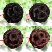 聖誕交換禮物 丸子頭假髮包頭飾造型髮包九朵花爪夾假髮圈女生盤髮器抓夾花苞頭