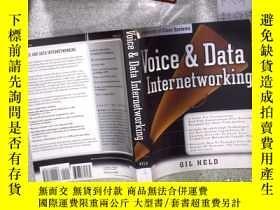 二手書博民逛書店Voice罕見& Data Internetworking 語音