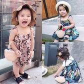 女寶寶碎花連身裙夏季新款吊帶純棉潮流嬰兒公主洋氣裙子 森活雜貨