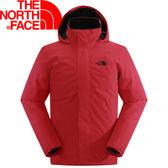 【The North Face 男 DryVent防水外套 紅/黑】NF00CKV7/防水外套/防水★滿額送