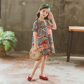 短袖女童夏裝2018新款公主裙子洋裝韓版兒童中大童女孩衣服lh327『男人範』