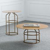 北歐茶几 北歐式小圓桌金色圓形小茶几現代小桌子創意咖啡桌zone【黑色地帶】