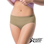 PolarStar 台灣 女 涼感排汗中腰三角褲 / 中腰內褲女生運動內褲透氣內褲無痕彈性無縫 P17330- 裸膚