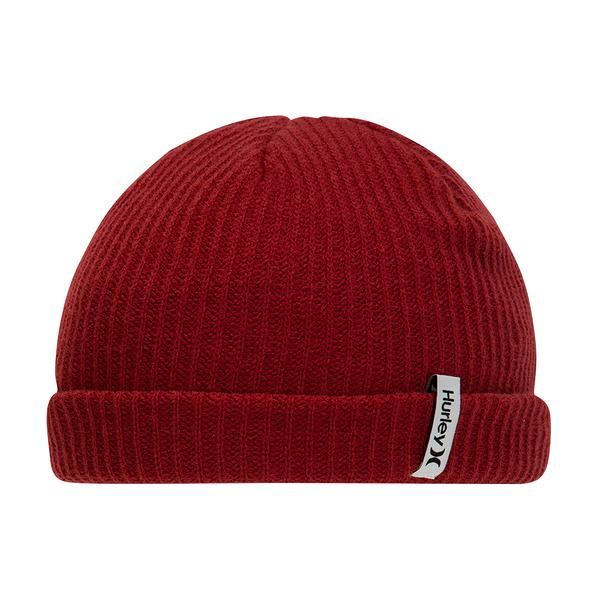 HURLEY|配件 M HRLY STAPLE OAO BEANIE BLACK 毛線帽-紅