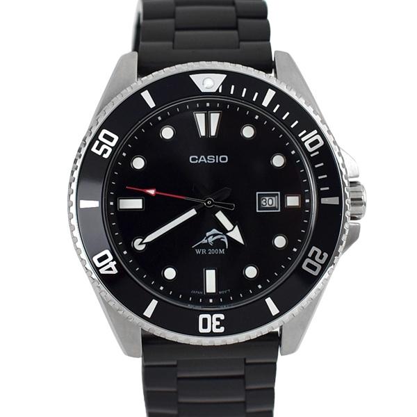 CASIO手錶 槍魚低調全黑鋼錶NECE56