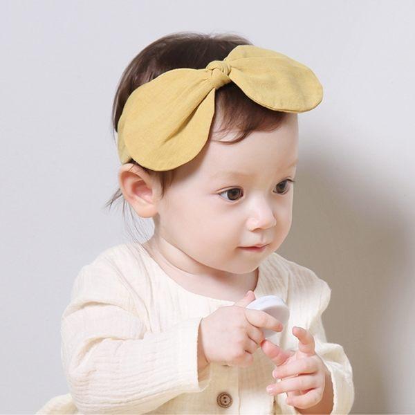 韓國 Happy Prince 素色大蝴蝶結髮帶  芥末黃 / 粉色 兩色