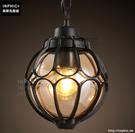 INPHIC- 工業復古咖啡廳餐廳吧台吊燈美式別野玻璃鐵藝燈飾-A款_S197C