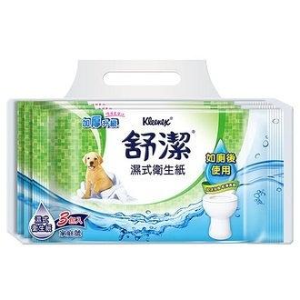 舒潔 濕式衛生紙 40抽 (3包)/袋