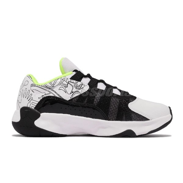 Nike Air Jordan 11 CMFT Low SE 白 螢光綠 女鞋 籃球鞋 【ACS】 DM3397-100