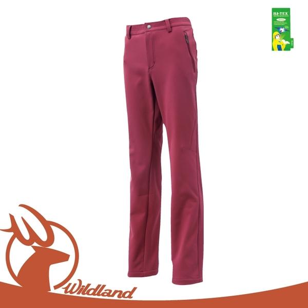 【Wildland 荒野 女 SOFTSHELL直筒長褲《赭紅色》】0A12307/工作褲/防風褲/雪褲