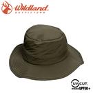 【Wildland 荒野 中性 抗UV透氣網遮陽圓盤帽《深卡灰》】W1051/防曬帽/登山/休閒帽/漁夫帽/遮陽帽