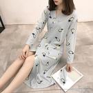 日系和服睡衣女春秋夏棉質短袖睡裙V領夏天可愛甜美薄款學生菠蘿 一米陽光