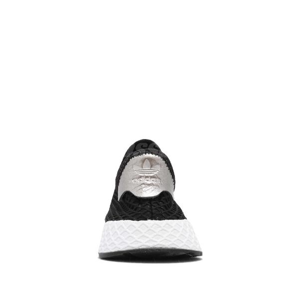 【US7.5-NG出清】adidas 休閒慢跑鞋 Deerupt Runner W 黑 白 左鞋頭裂開 女鞋 運動鞋【ACS】