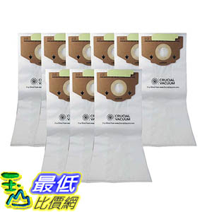 [106美國直購] 9 Eureka Style RR Allergen Filtration Vacuum Bags - Compare With Eureka Part 61115, 61115A, 61115B