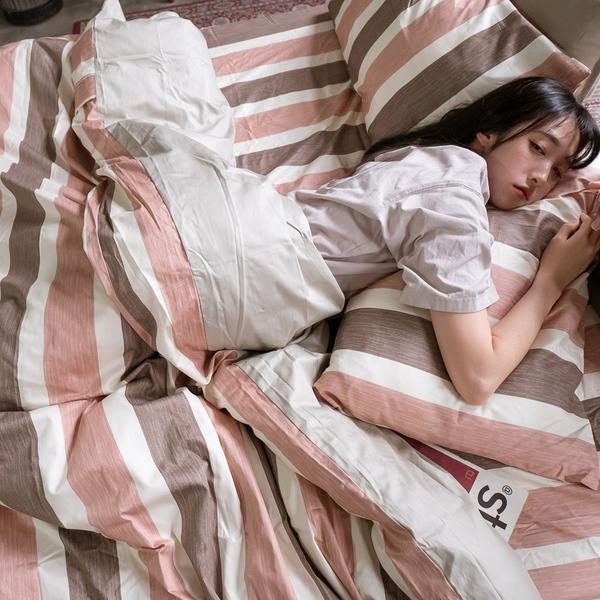 奈良小路 S2 單人床包雙人薄被套三件組 100%純精梳棉 台灣製 棉床本舖