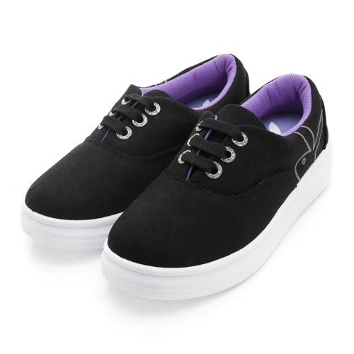 水鑽鞋孔厚底休閒鞋