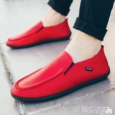 豆豆鞋男秋季新款韓版百搭個性豆豆鞋男士鞋子休閒皮鞋潮流懶人單鞋夏 伊蒂斯女裝