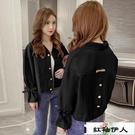 夾克外套女秋季2020新款韓版寬鬆百搭刺繡上衣ins潮『紅袖伊人』