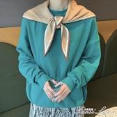 韓國新款秋冬季圍巾女針織毛線三角巾東大門百搭裝飾小圍巾圍脖 范思蓮恩