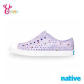 native水鞋 女鞋 奶油頭 洞洞鞋 休閒鞋 懶人鞋 JEFFERSON 茱萸花 L9480#紫色◆奧森鞋業
