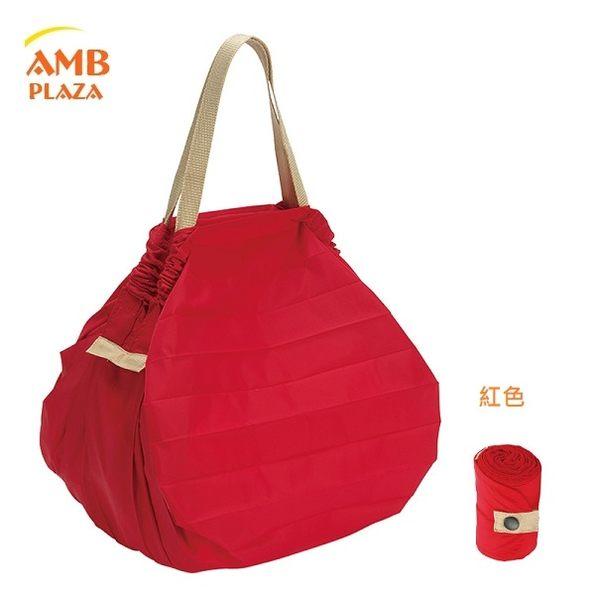 日本 MARNA Shupatto【紅色M】輕量口袋包環保購物袋/快速摺疊收納