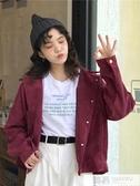2019新款韓版秋裝工裝外套西裝女bf學生小個子短款薄燈芯絨夾克潮 韓慕精品