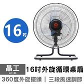 【晶工】16吋外旋循環桌扇/電扇/電風扇/風扇/循環扇/工業扇 LC-163