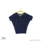 限定回饋【INI】優雅質感、專櫃細膩造型雅緻針織上衣.黑色