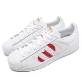 【六折特賣】adidas 休閒鞋 Superstar 白 紅 情人節 金標 愛心 小白鞋 女鞋 運動鞋【PUMP306】 EG3396