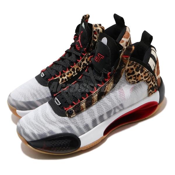 Nike Air Jordan XXXIV TATUM PE GS Zoo 白 獸紋 女鞋 動物紋路 籃球鞋 運動鞋 【ACS】 DA4451-900