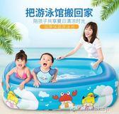 游泳池兒童游泳池充氣家庭嬰兒游泳桶成人家用寶寶加厚小孩超大號游泳池    color shop