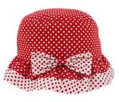 【卡漫城】 點點 紅底白點 漁夫帽 48cm ㊣版 圓點 荷葉邊 遮陽帽 兒童帽 帽子 女童 幼兒 台灣製
