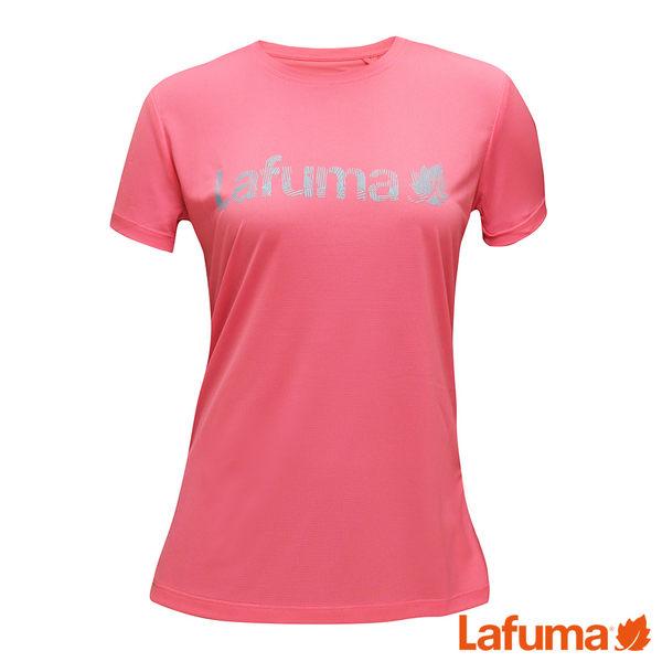 Lafuma 女 THORENS 短袖排汗衣-粉紅 LFV115490530
