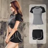 運動背心 運動套裝女夏季薄款健身房晨跑步瑜伽服兩件套休閒網紅背心速干衣 瑪麗蘇
