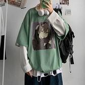長袖T恤寬鬆嘻哈寬鬆圓領衛衣休閒上衣【橘社小鎮】
