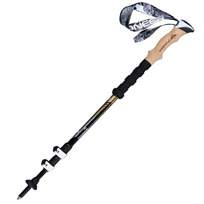 登山杖-伸縮方便橡膠手柄碳纖維登山用品拐杖3色71c7【時尚巴黎】