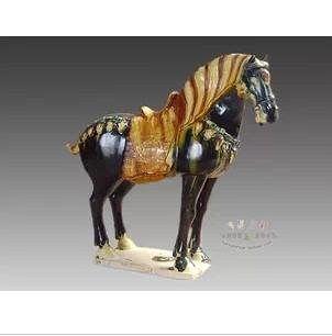 唐三彩陶瓷裝飾中式藝術做舊擺件