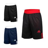 ADIDAS 男雙面籃球短褲(訓練 愛迪達 雙面球褲 運動短褲 五分褲 免運 ≡排汗專家≡