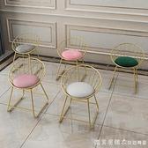 現代簡約蝴蝶結網紅化妝梳妝凳靠背美甲椅子臥室ins北歐少女凳子 NMS【美眉新品】